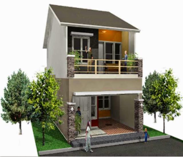 Contoh Desain Rumah Sederhana 2 Lantai