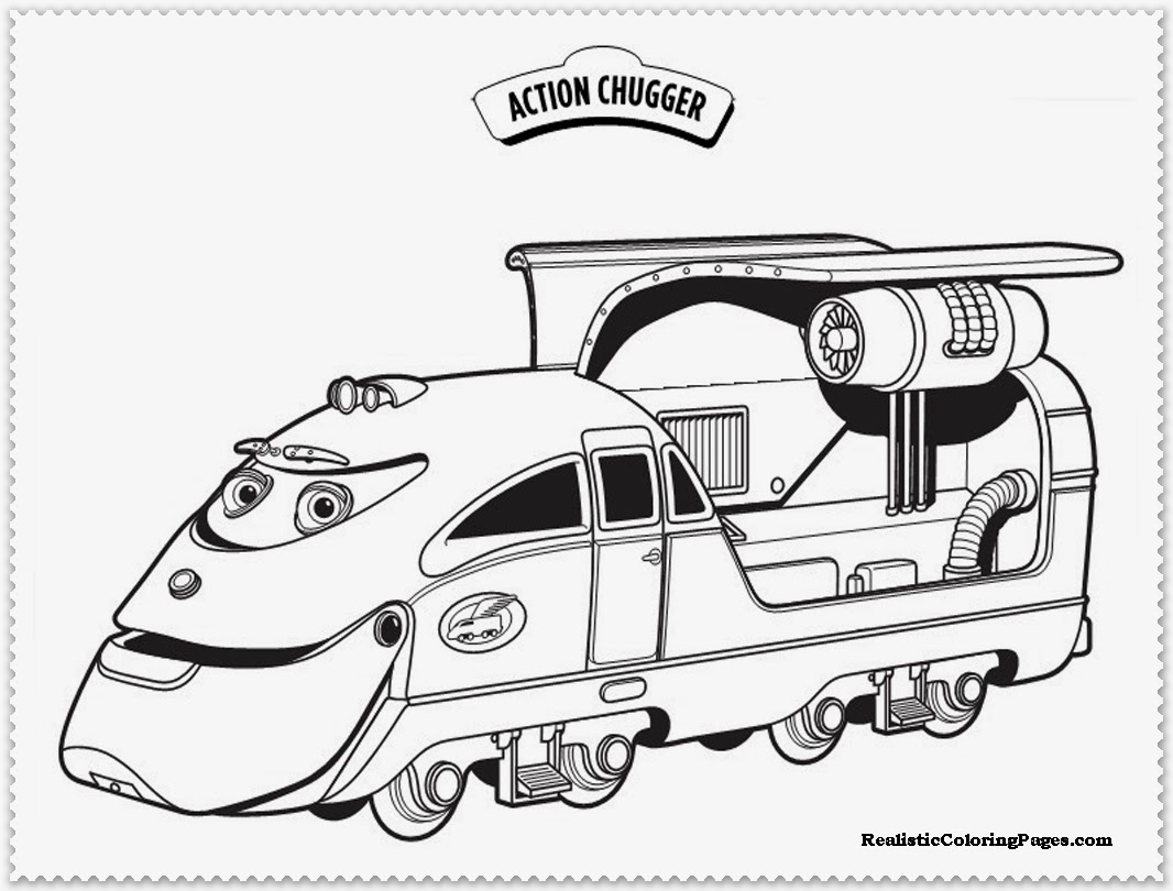 chuggington coloring pages action chugger