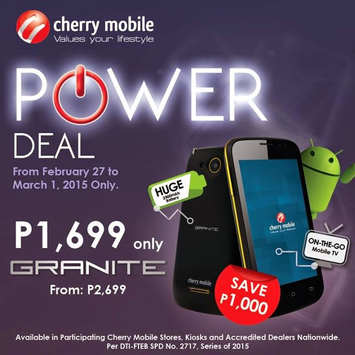 Cherry Mobile Granite Specs, Price and Availability
