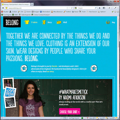 Screen shot of http://wearyoubelong.com/.