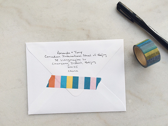 save the dates - envelope