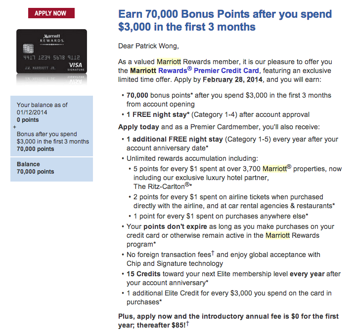 Green Espirit: Chase Marriott Card with 70,000 Sign-up Bonus Reward ...