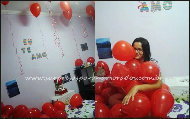 1 ano de namoro com balões