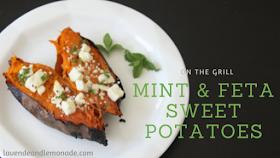 Feta and Mint Grilled Sweet Potatoes