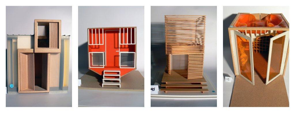 The rikrak studio mini modern beach hut models for Model beach huts