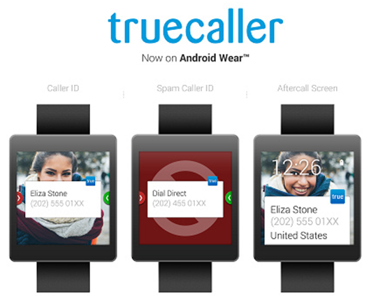 Truecaller App for Android Wear