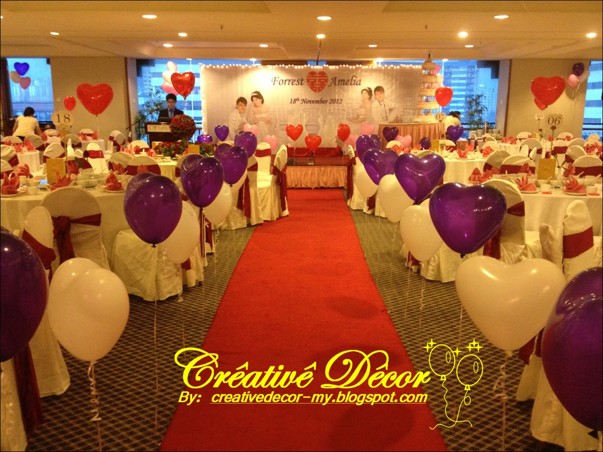 Creatived cor by vincent chinese wedding balloon decoration for Ballon wedding decoration