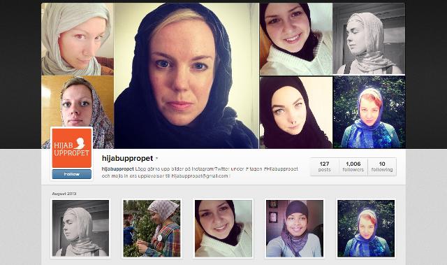 Wanita-wanita Sweden pakai tudung selepas serangan ke atas wanita Muslim
