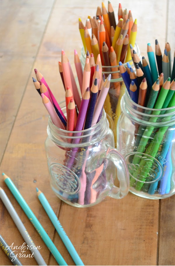 Use crayons or colored pencils to experiment with finding the colors that compliment your decorating style | www.andersonandgrant.com