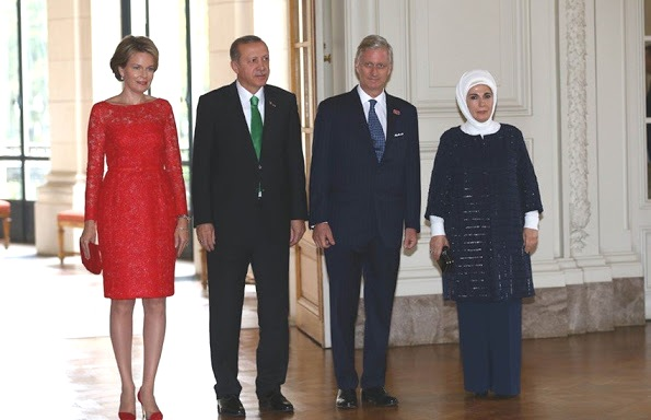 King Philippe Hosted Luncheon In President Erdoğan And Wife Emine Erdogan's Honor