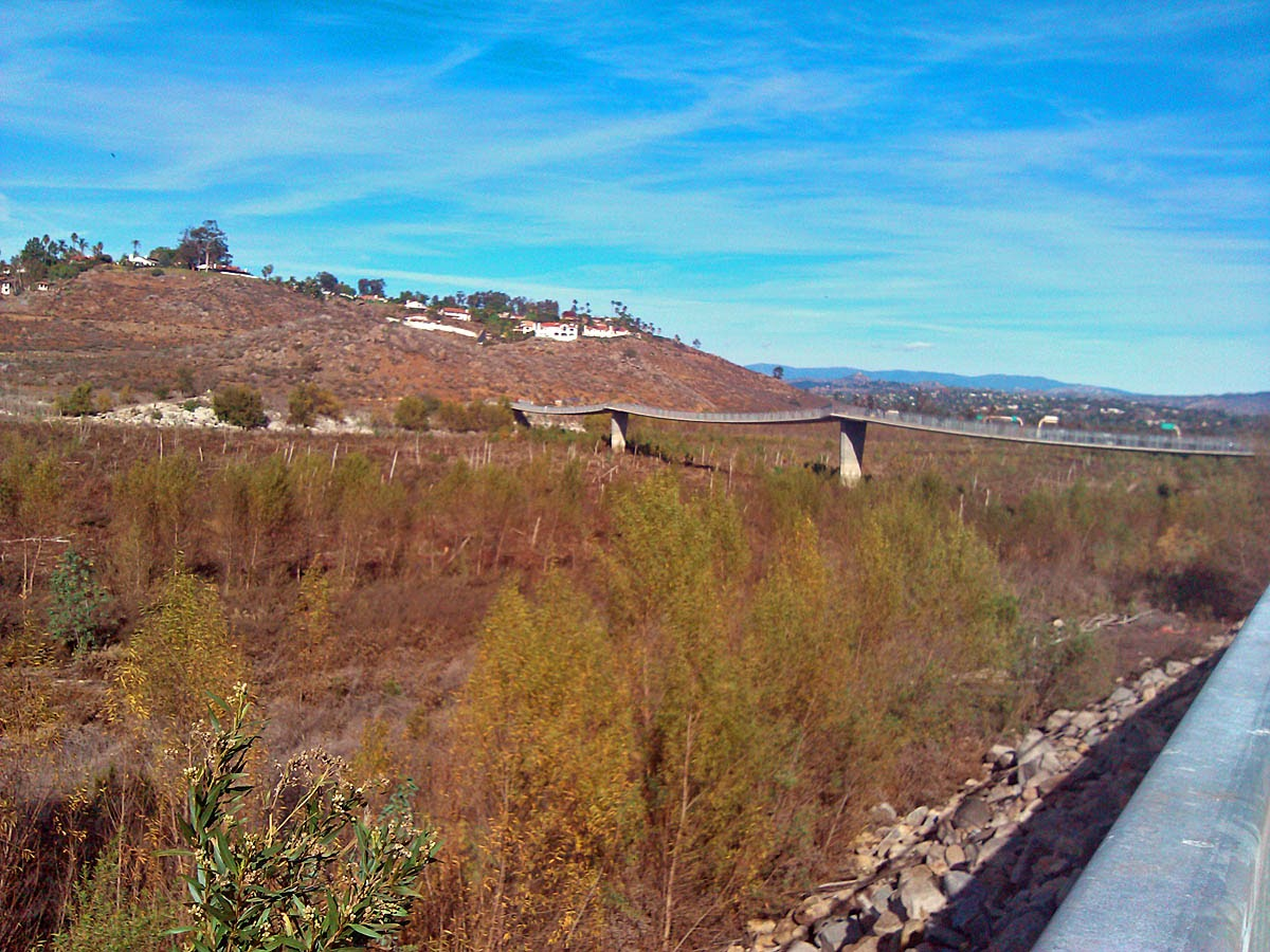Lake Hodges footbridge