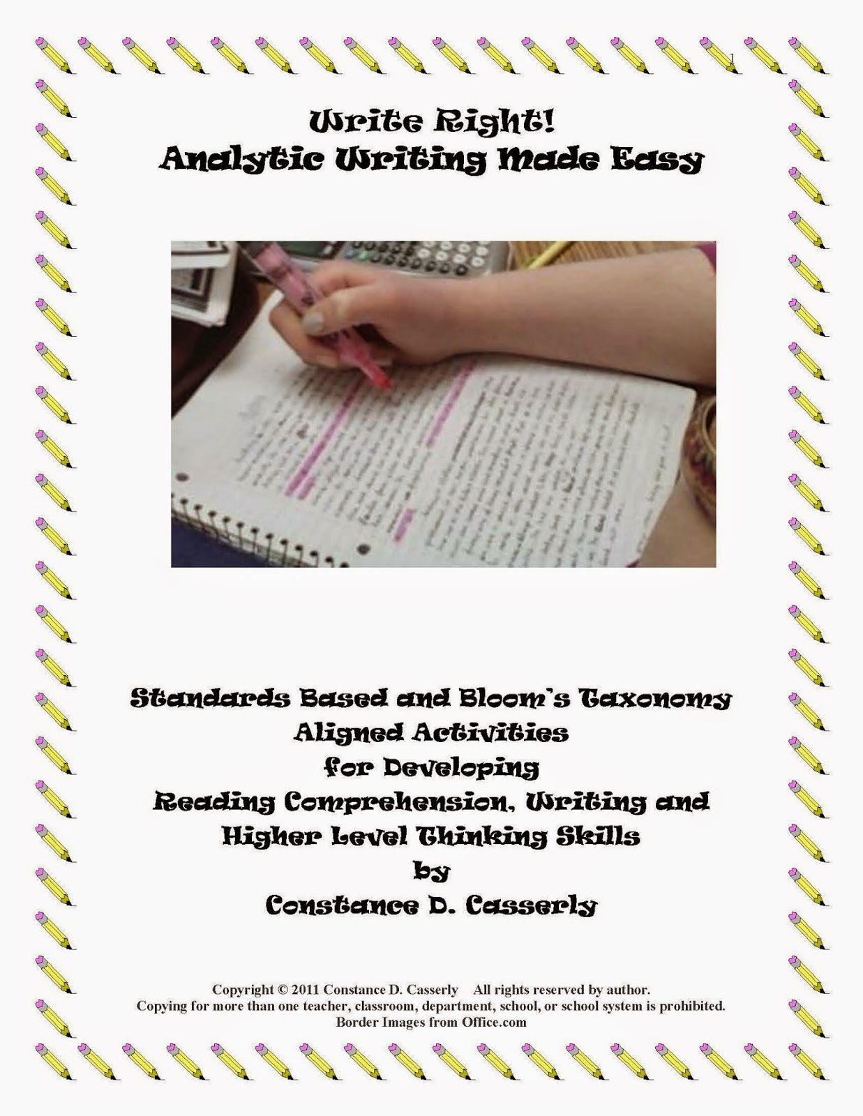 Writing: Write Right! Analytic Writing Made Easy