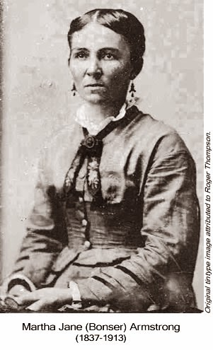 Image of Martha Jane (Bonser) Armstrong.
