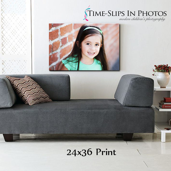 living room view of gallery wrap art