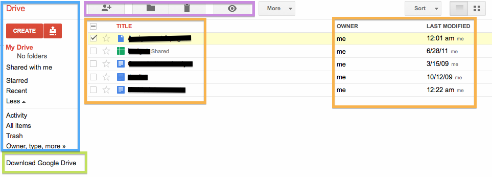 google drive how to tell which folders have synced