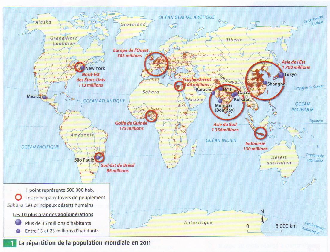 Grand Foyer De Peuplement : Localisez et situez les dix plus grandes métropoles