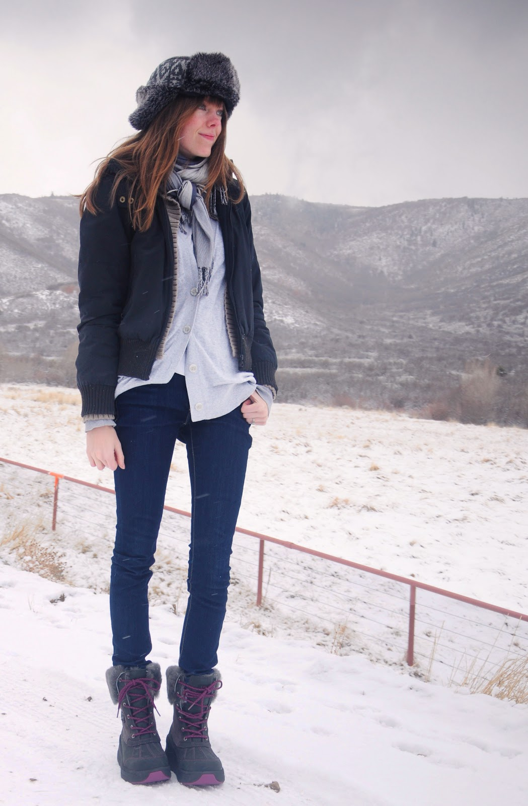 Winter hiking fashion; UGG snow boots