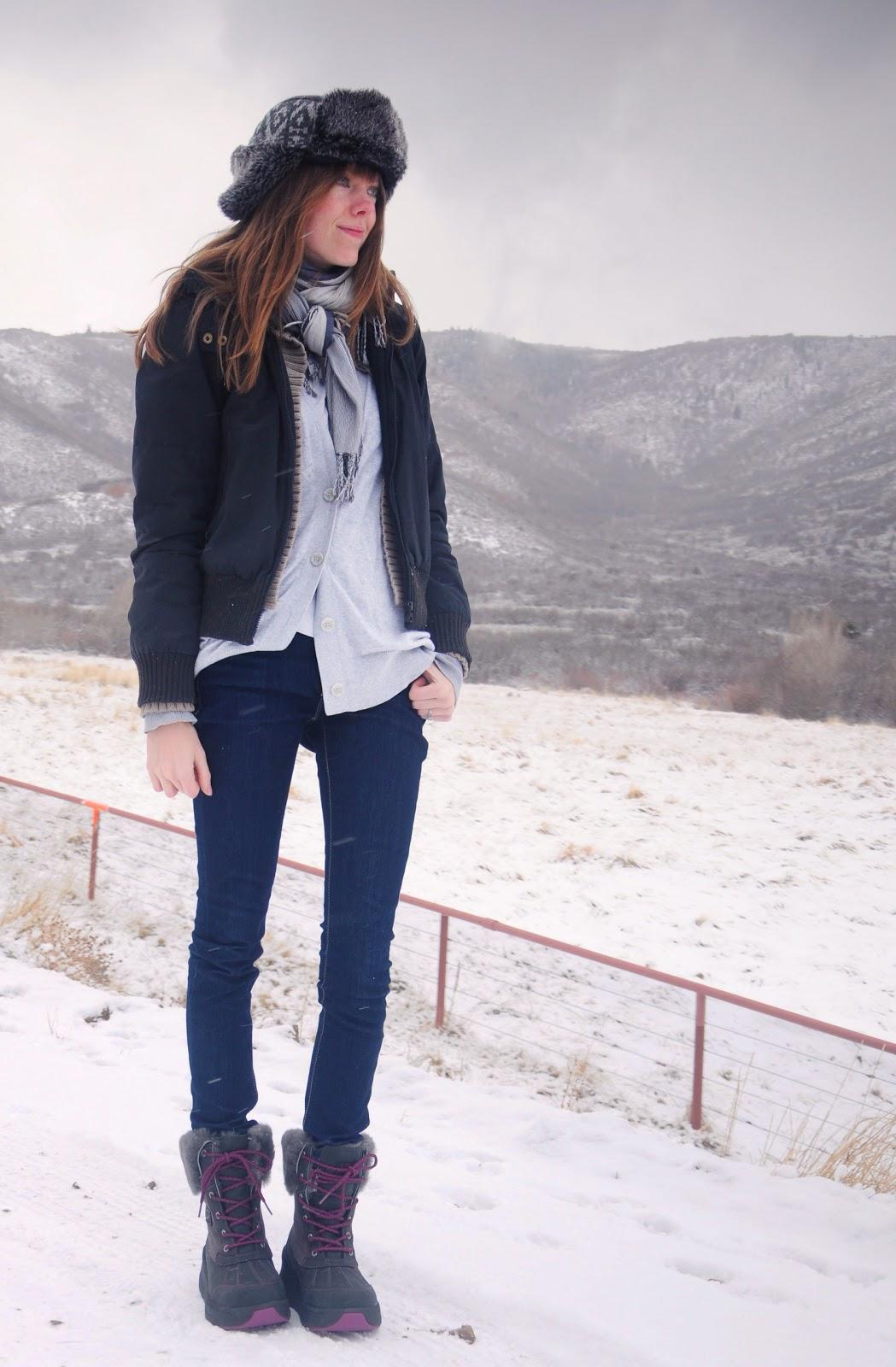 Winter hiking fashion; UGG snow boots