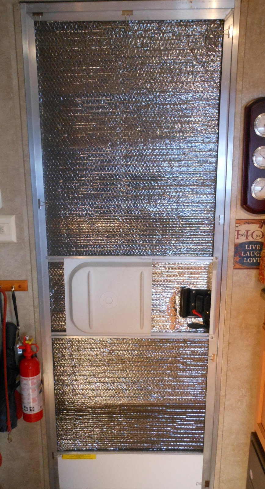 What weu0027ve done is attach a piece of quilted reflective insulation (which comes in 2u0027 widths exactly the same as most RV doors) and attach it to the ... & The Accidental Trailerist: RV Door Insulation for Winter
