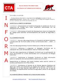 C.T.A. INFORMA, LO REALIZADO EN SEPTIEMBRE 2017
