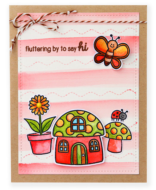 Sunny Studio Stamps: Backyard Bugs Fluttering By Card by Suzy Plantamura.