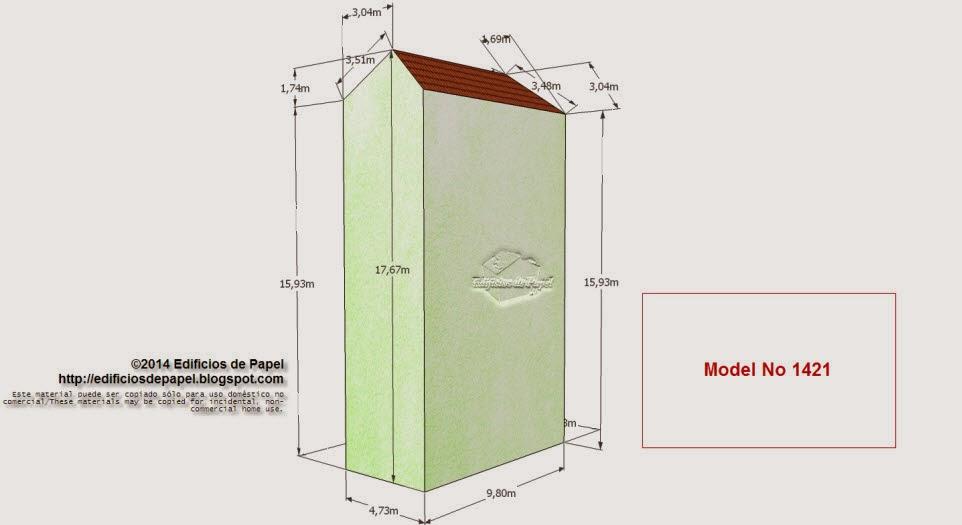 """Edificios de Papel - Modelo 1421 - Edificio Plaza Flores. Serie """"Ourense"""" - """"Ourense"""" series"""