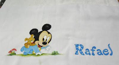 fralda pintada baby mickey