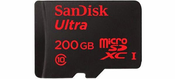 Τόσο μεγάλο όσο ένα σεντ: 200 gigabytes χωράνε στη νέα κάρτα μνήμης SDXC της SanDisk.
