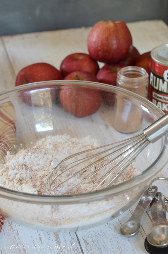 Making apple muffins | www.andersonandgrant.com