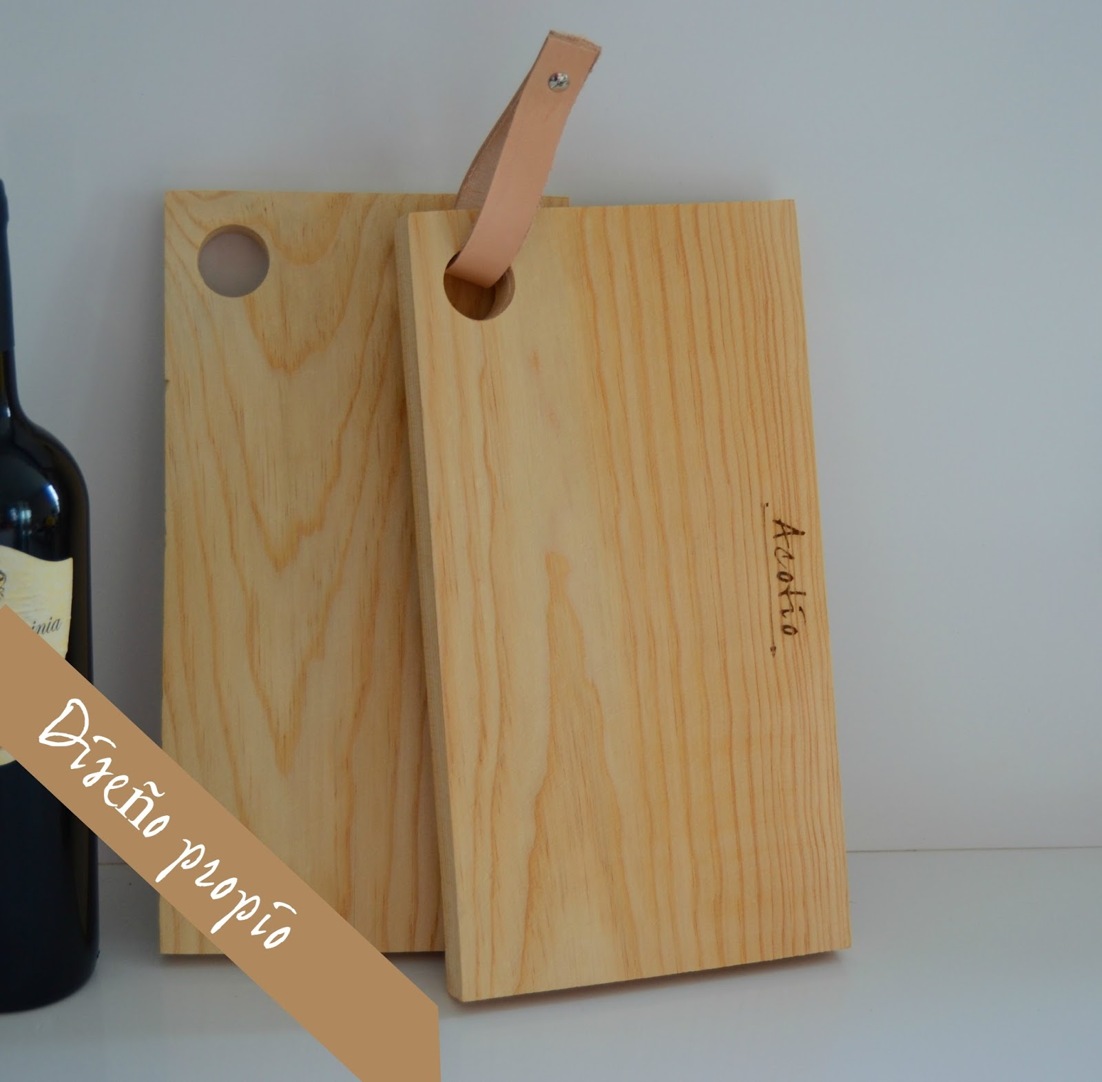 Tablas de madera diferentes para la cocina acot o dec - Productos de madera para manualidades ...