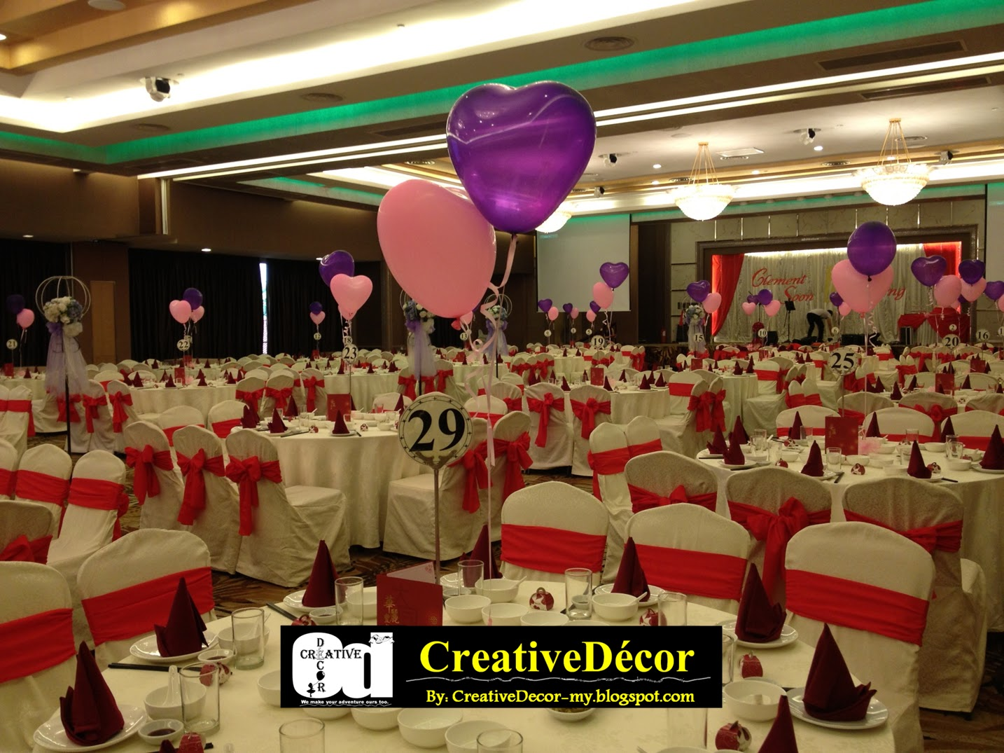 Creativedcor By Vincent Balloon Decoration Chinese Wedding