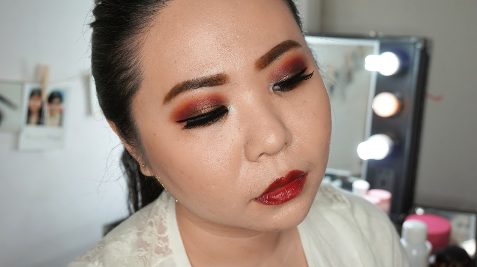 Fall inspired makeup tutorial in warm red and brown eyes with dark fall inspired makeup tutorial in warm red and brown eyes with dark red lipstick baditri Choice Image