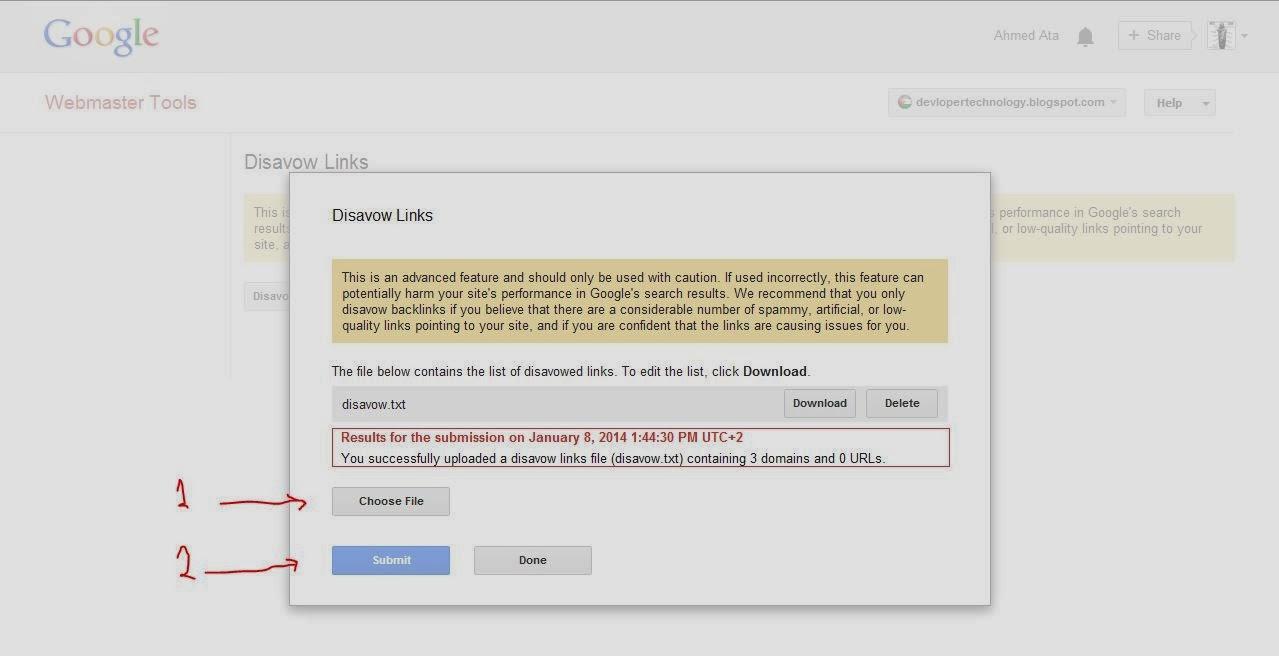 SEO Disavow links google webmaster