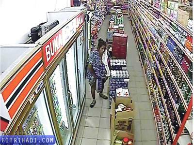 Berita Wanita Pencuri Tin Milo Celah Kangkang Diburu!