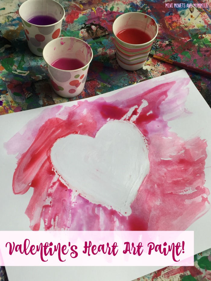 Mini Monets And Mommies Valentine S Day Water Color Heart Art For Kids