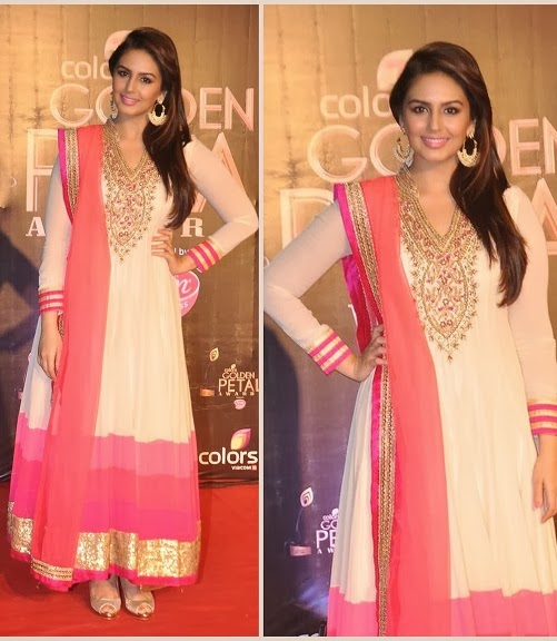 Huma Qureshi Looked Graceful in Designer Anarkali Churidar Suit