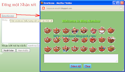 Chèn Các bộ emoticons cho blog - http://namkna.blogspot.com/