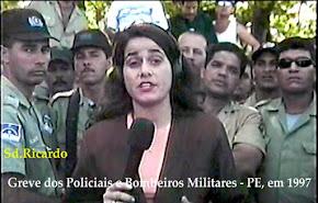 FOTO DE1997, O SGT. RICARDO NA ÉPOCA RECRUTA AJUDOU A LIDERAR A MOBILIZAÇÃO SALARIAL DA PM E BM