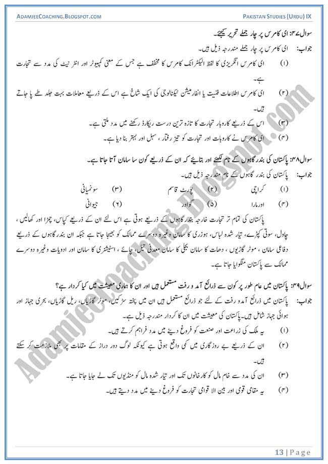Industrial-Development-in-Pakistan-Short-Question-Answers-Pakistan-Studies-Urdu-IX