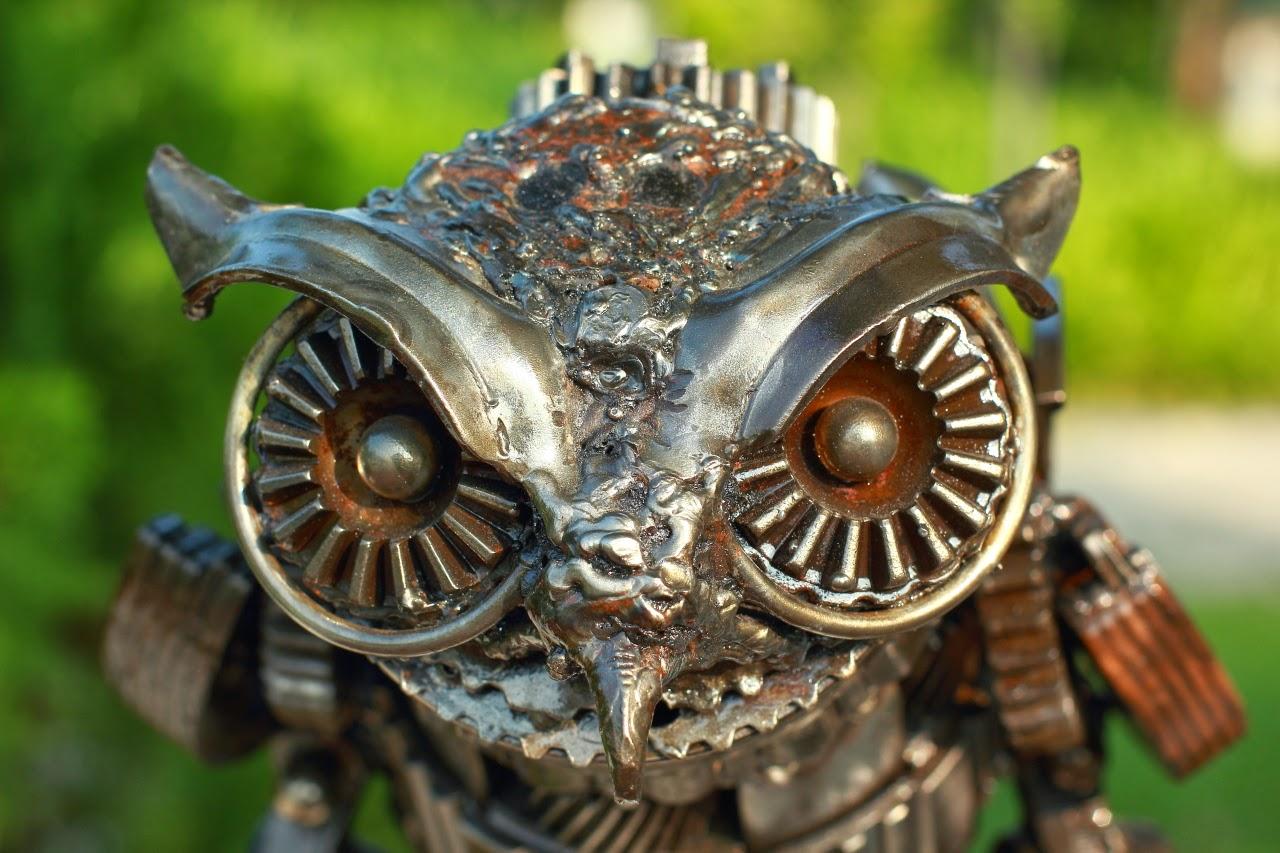 Owl metal for Metalart polen