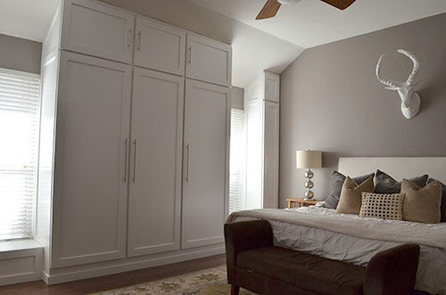 Delicieux On Monday I Shared With You The Husbandu0027s Biggest Project Yet, Custom  Built In Wardrobe Closets For Our Master Bedroom.