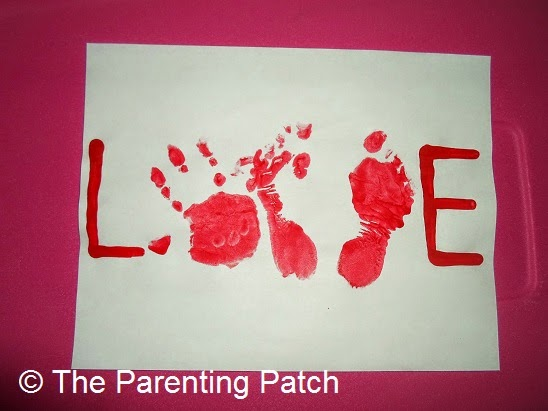 Valentine handprint crafts