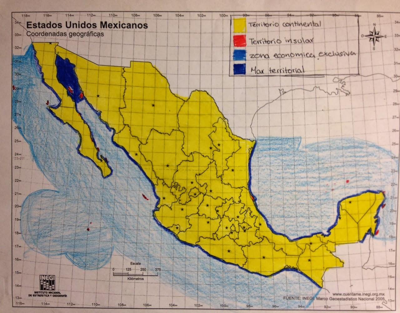 Tipos de mapas m xico territorio nacional for Marmol donde se encuentra