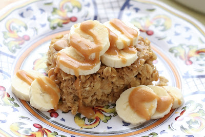 PB Banana Baked Oatmeal recipe by Barefeet In The Kitchen