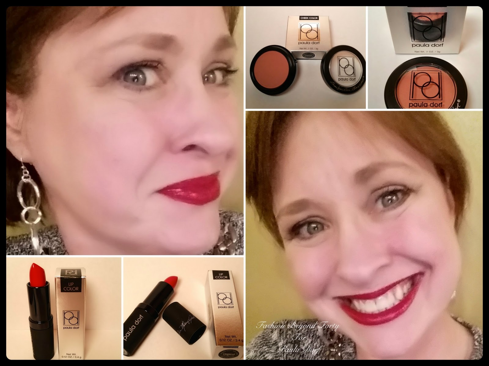 Paula Dorf Lipstick Legend and Blush Passion Review Fashion Beyond Forty
