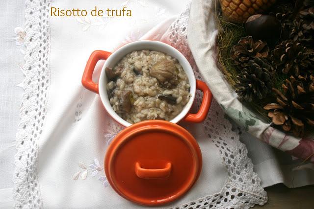 risotto de trufa, risotto de setas, risotto,aceite de trufa