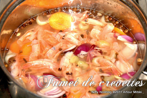 Shrimp stock recipe (fumet de crevettes)