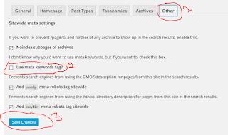 Meta Keywords tag Setup