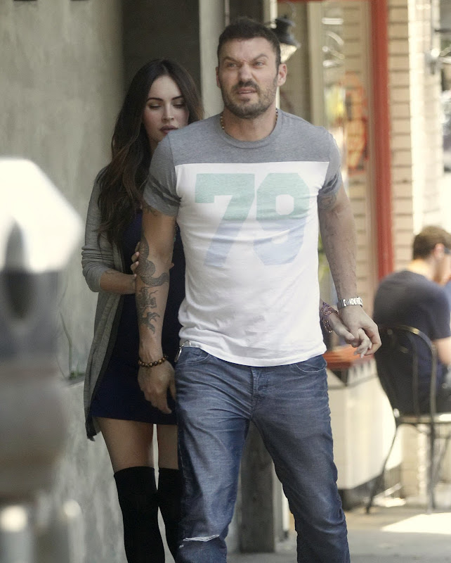 Megan Fox pregnant and starting to show