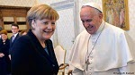 German Chancellor Merkel meets with Pope Francis